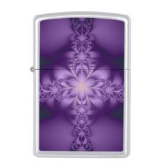 #stylish - #Purple butterflower zippo lighter