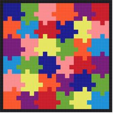 Crochet Autism Awareness Graph Afghan by JustKeepStitching2, $4.95