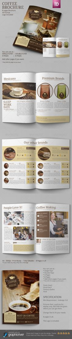 Coffee Brochure for Coffee Business Owners