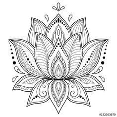 Mehndi lotus flower pattern for Henna drawing and tattoo. Decoration in ethnic oriental, Indian style. Mehndi lotus flower pattern for Henna drawing and tattoo. Decoration in ethnic oriental, Indian style. Lotus Mandala Design, Mandala Art, Lotus Flower Mandala, Mandalas Painting, Lotus Design, Mandalas Drawing, Mandala Tattoo Design, Lotus Mandala Tattoo, Lotus Tatoos