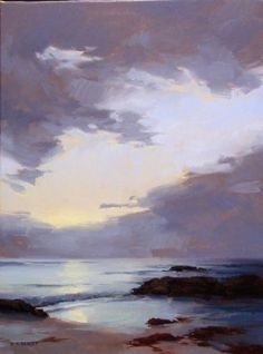 Sea & Sky by Laurie Kersey Oil ~ 24 x 18: