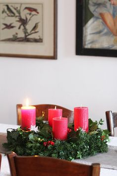 Unser selbstgemachter Adventskranz   SoLebIch.de - Foto von Mitglied Lady-Blog #solebich #interior #einrichtung #inneneinrichtung #deko #decor #weihnachten #christmas #advent #Weihnachtsdeko #christmasdecor #adventsdeko #adventdecor #adventskranz #adventwreath #rotekerzen #redcandles