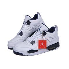 Nike Air Jordan 4 Retro Columbia Legend Blue Men Basketball Shoes