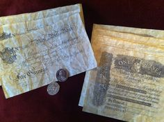 Regency Era British banknote reproductions by OttotheConfused