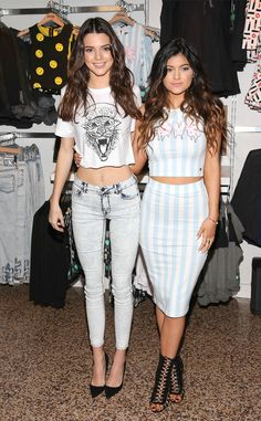 "Kendall Kylie Jenner look super stylish at the launch of their PacSun ""Kendall Kylie Holiday Collection."""