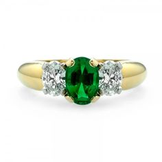 Emerald and Diamond Ring // J.M. Edwards Jewelry // Cary, NC