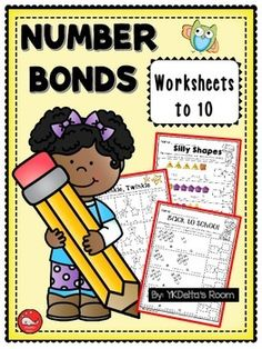 Number Bonds worksheets up to 10. Practice addition and subtraction within 10.Gumball Machine Silly ShapesFun at the BeachMr. WiseMy Heart for YouBack to SchoolTwinkle, TwinkleCupcake for Me!PopcornBloomsPumpkins and FramesChoco FrameNumber Bond Practice ANumber Bond Practice B