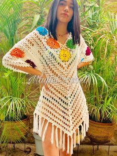 ergahandmade: Crochet Cardigan + Video Tutorials You are in the right place about knitting aesthetic Here we offer you the most beautiful pictures about the. Crochet Poncho Patterns, Tunic Pattern, Crochet Cardigan, Crochet Stitches, Knit Wrap Pattern, Diy Crafts Knitting, Diy Crafts Crochet, Mode Crochet, Knit Crochet