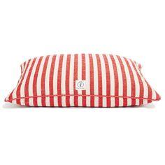 Red Vintage Stripe Dog Bed // whitesmercantile.com