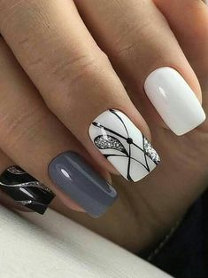 Beauty Nails – Nail Art Design Nagellack # Nagellack # Nageldesign – Nägel, You can collect images you discovered organize them, add your own ideas to your collections and share with other people. Gorgeous Nails, Love Nails, Fun Nails, Style Nails, Winter Nails, Spring Nails, Nagellack Design, Latest Nail Art, Nail Swag