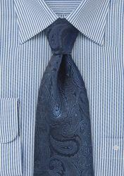 XXL-Krawatte Paisleymuster navy günstig kaufen