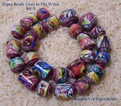 Paper Beads Trees In The Wind  Set A by PassionForPaperBeads