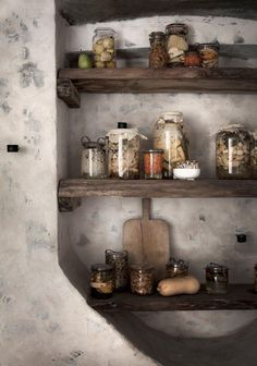 PANTRY IN THE CELLAR In the cellar of höst you will find a huge pantry of berries and vegetables – pickled to last all year