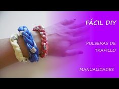 Tutorial cómo hacer pulseras de trapillo - Fácil DIY - YouTube