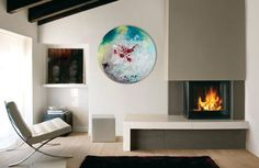 Abstract Art,Glass Painting,Abstract painting,Unique Wall Light,Modern,Wall…
