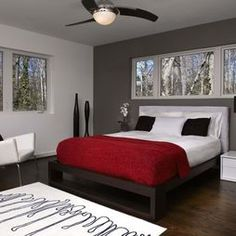 gray white trim bedroom gray bedroom design pictures remodel decor and - Red White Bedroom Designs