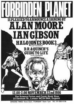 Flyer Promoting Alan Moore And Ian Gibson Signing At Forbidden Planet London In 1986