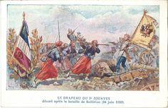 Drapeau 2e Zouaves - Solférino - Collectif France 40