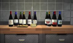 Bottles of Wine Nectar. I made these on another mesh first, but that one wasn't shareable, but Tinkle's is! :) Recolour of her Shelf Life Bottle.DL Dropbox / SimFileShareMade with S4S - Simlish fonts by SIMale, ajaysims & gazifu(In pic: cheese by Tinkle, glass of wine - private, candle by Buffsumm)