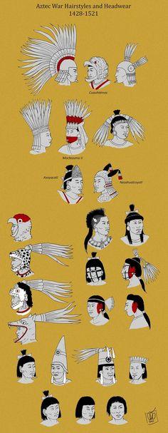 Aztec Warrior Hairstyles by http://Kamazotz.deviantart.com on @DeviantArt                                                                                                                                                                                 More