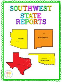 This is a 67 page unit that you can use to complete a research unit on the Southwest Region of the United States: ArizonaNew MexicoTexasOklahomaThere are many activities to choose from and you will be able to use them to differentiate depending on your students needs.