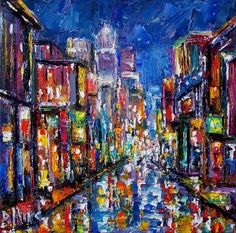 landscape collage paintings new orleans | New Orleans Art PAINTING ABSTRACT BY DEBRA HURD, original painting by ...
