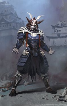 Samurai Shinnok, Elekes Aron on ArtStation at https://www.artstation.com/artwork/samurai-shinnok