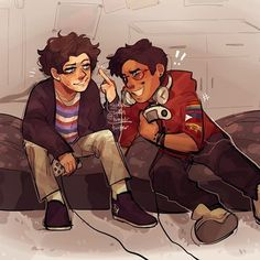 Jeremy Heere and Michael Mell Fan Art Michael Mell, Michael X, Be More Chill Musical, Michael In The Bathroom, Empire Ottoman, Chill Pill, Dear Evan Hansen, Two Player Games, Musical Theatre