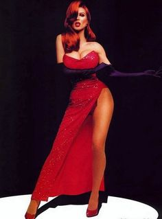Jessica rabbit cosplay! So doing this once I lose some weight.... Definitely have the top for it... Lol