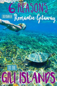 Imagine your picture perfect romantic getaway.  Did you think about a tropical beach on an island with beautiful white sand and crystal clear turquoise blue water?  Yeah, us too! If you're looking for a tropical romantic getaway on an island you've honestly probably never heard of, then you definitely need to start planning your trip to the Gili Islands.