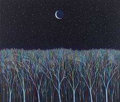 Scott Kahn : Paintings - New Moon 2013 Triple Goddess, Moon Goddess, Forest Art, Dark Forest, Tender Is The Night, Frozen Pond, Old Lyme, Lunar Eclipse, Ancient Romans