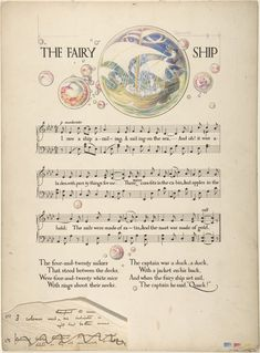 """""""Nursery Songs"""" (1907) illustrated by Paul Woodroffe, via the Met"""
