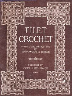 New Filet Crochet Book Filet Crochet, Crochet Cross, Crochet Diagram, Crochet Chart, Thread Crochet, Crochet Motif, Crochet Stitches, Crochet Borders, Crochet Squares