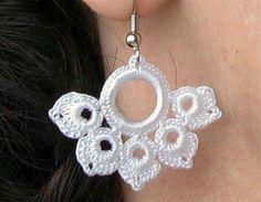 Aretes crochet earring