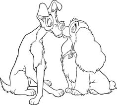 Coloring Page Lady And The Tramp Busybook Dryerasebook Kid