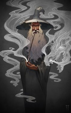 Gandalf Stormcrow by Victor Maury (He's in my anthropology class! The artist, not Gandalf) Jrr Tolkien, Fantasy Kunst, Fantasy Art, Bild Tattoos, Fantasy Illustration, Digital Illustration, Illustrations, Middle Earth, Lord Of The Rings