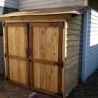 Ana White | Build a Small Cedar Fence Picket Storage Shed | Free and Easy DIY Project and Furniture Plans - something shorter for shoes/dog stuff outside back door
