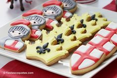 Cute Cookies from this Knight themed birthday party with Such Cute Ideas via Kara's Party Ideas Kara Allen KarasPartyIdeas.com #knightparty #medievalpartyideas #pa...