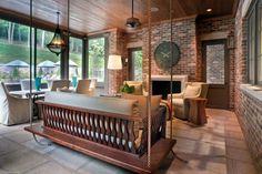 Nashville screened porch.Jason Arnold and Atlas Interiors.