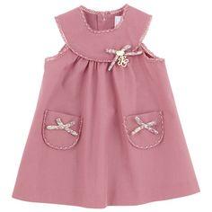 Tartine et Chocolat Sienna pink poplin dress