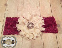 Newborn Shabby Chic Vintage-Inspired Handmade by CountryQTBowtique
