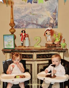 Barlow Girls Photography~ #Clarksville #tn #fortcampbell #Birthday #party #2yearoldbirthday #toddlers #tinkerbell #peterpan #cake #twins #brother #sister