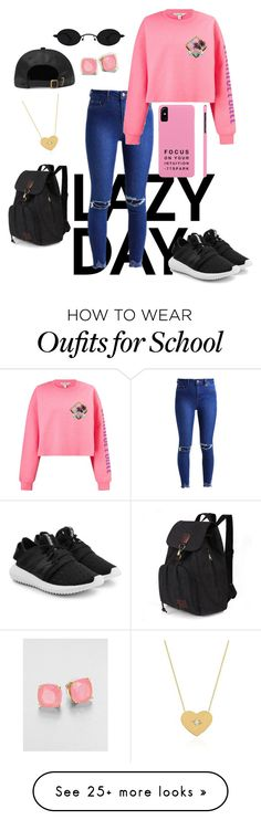 """Because finals"" by tab-2 on Polyvore featuring Miss Selfridge, adidas Originals, Kate Spade and Johnny Was"