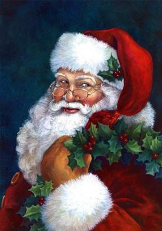 A wonderful Father Christmas Christmas Scenes, Noel Christmas, Father Christmas, Vintage Christmas Cards, Christmas Pictures, Winter Christmas, Victorian Christmas, Santa Christmas, Retro Christmas