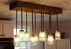 Diy lámparas con botes de cristal para la cocina | DEF Deco - Dcorar en familia #reciclar #lowcost