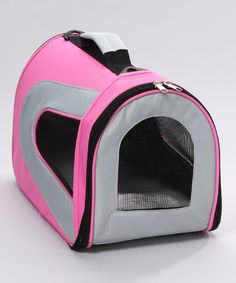 Take a look at this Pink & Cream Sporty Airline-Approved Pet Carrier by Pet Life on #zulily today!