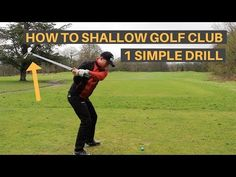 HOW TO SHALLOW THE GOLF CLUB AND HIT IT FURTHER - YouTube