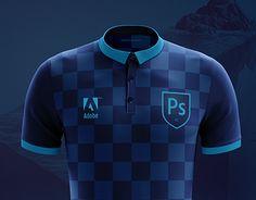 Football Shirts, Adobe Photoshop, New Work, Polo Shirt, Soccer, Behance, Concept, Gallery, Check