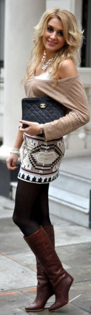 Neutrals with Chanel bag