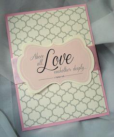 Pink God Is Love Christian Wedding Invitation Pink God Is Love